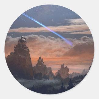 Halleys Komet Runder Aufkleber