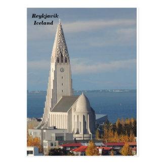 Hallgrímskirkja, Reykjavik, Island Postkarte