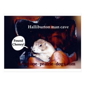 Halliburton Mannhöhle Postkarte