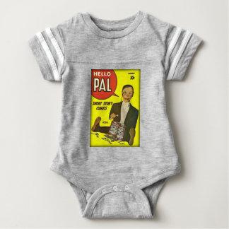 Hallo Abdeckungs-Kunst des Kumpel-#2 Charlie Baby Strampler