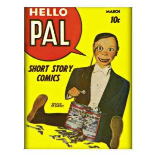 Hallo Abdeckungs-Kunst des Kumpel-#2 Charlie Postkarte