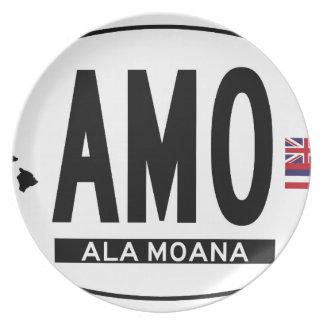 Hallo-ALA-MOANA-Aufkleber Flache Teller