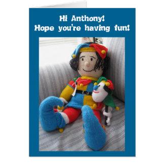 Hallo Anthony#6 Karte