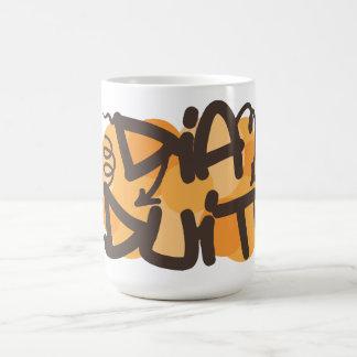 Hallo auf Iren in der Graffitiart Kaffeetasse