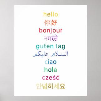 """""""Hallo"""" aus der ganzen Welt - Plakat 16x20"""