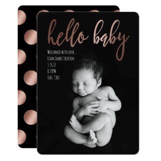 Hallo Baby-Geburts-Mitteilung 12,7 X 17,8 Cm Einladungskarte