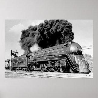 Hallo Ball es!  Begrenzte Vintage Eisenbahn des Poster