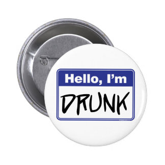 Hallo, bin ich betrunken runder button 5,1 cm