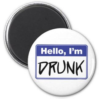 Hallo, bin ich betrunken runder magnet 5,7 cm