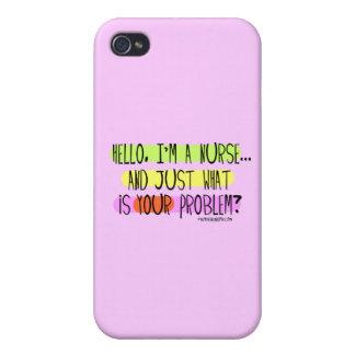 Hallo bin ich eine Krankenschwester iPhone 4 Schutzhüllen