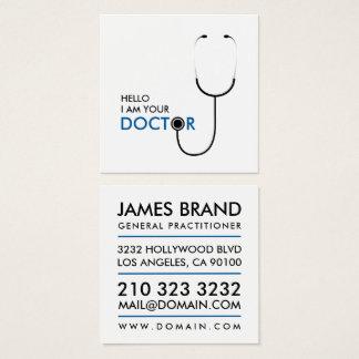 Hallo bin ich Ihr Doktor Arzt für Allgemeinmedizin Quadratische Visitenkarte