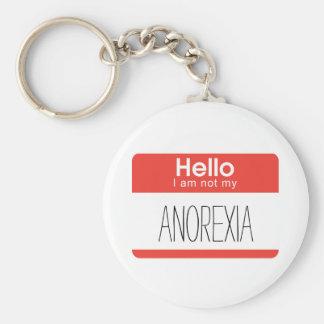 Hallo bin ich nicht meine Magersucht Keychain Standard Runder Schlüsselanhänger
