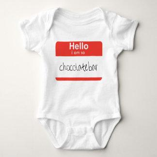 "Hallo… bin ich ""so Schokoladen-Bar"" Baby-Strampler Baby Strampler"