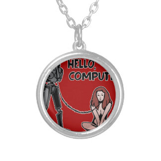 Hallo, Computer Versilberte Kette