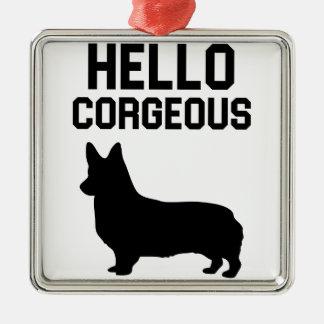 Hallo Corgeous Silbernes Ornament