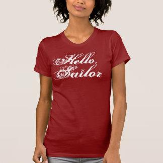 Hallo, das T-Stück des Seemannmädchens T-Shirts