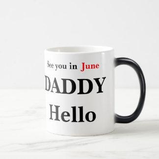Hallo decken Vati-Schwangerschaft Kaffee-Tasse auf Verwandlungstasse