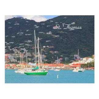 Hallo def Fotografie von St Thomas, Boote Postkarte