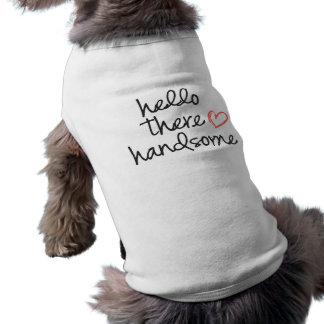 Hallo dort hübscher lustiger Hundeshirt