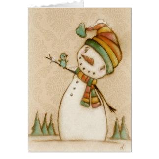 Hallo Drossel - Weihnachtskarte Karte