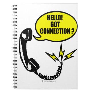 Hallo! Erhaltene Verbindung Notizblock