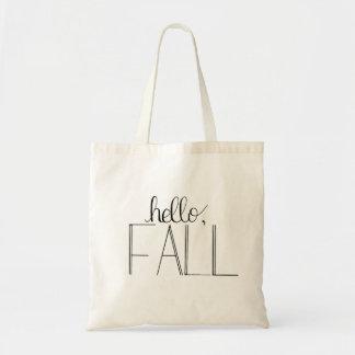 Hallo Fall-Handmit buchstaben gekennzeichnete Tragetasche