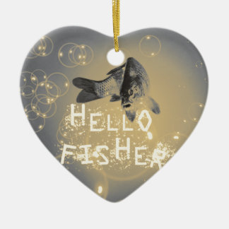 Hallo Fischer Keramik Ornament