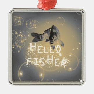 Hallo Fischer Silbernes Ornament