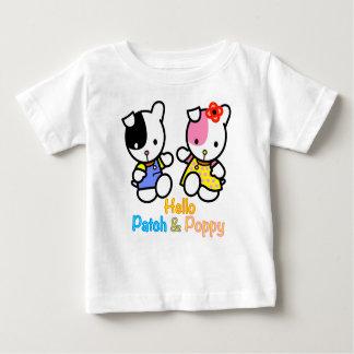 Hallo Flecken und Mohnblume Baby T-shirt