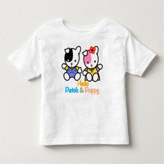 Hallo Flecken und Mohnblume Kleinkind T-shirt
