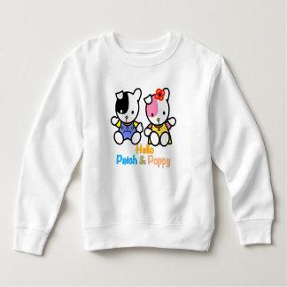 Hallo Flecken und Mohnblume Sweatshirt