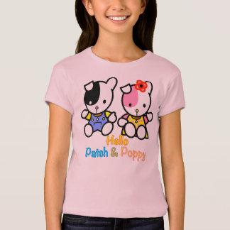 Hallo Flecken und Mohnblume T-Shirt