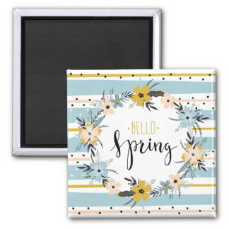 Hallo Frühling. Quadratischer Magnet