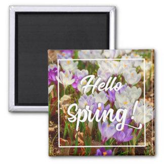 Hallo Frühling! Quadratischer Magnet