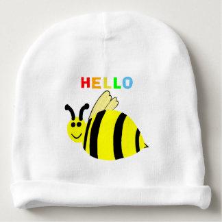 Hallo Gelb-lächelnder Hummel-Bienen-Baby-Hut Babymütze