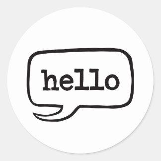 Hallo (hallo hallo Grüße) Runder Aufkleber