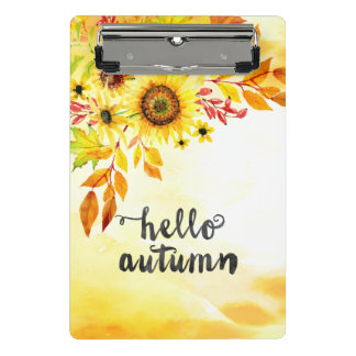 Hallo Herbst Mini Klemmbrett