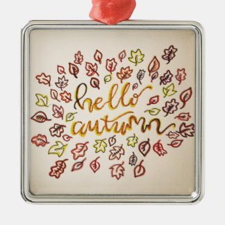 Hallo Herbst Silbernes Ornament