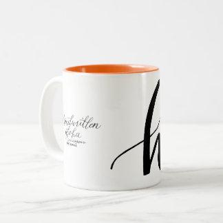 Hallo! Hibiskus-Tasse Zweifarbige Tasse