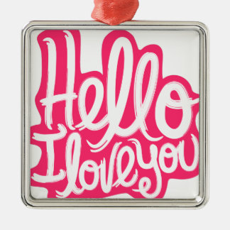 Hallo i-Liebe Sie Silbernes Ornament