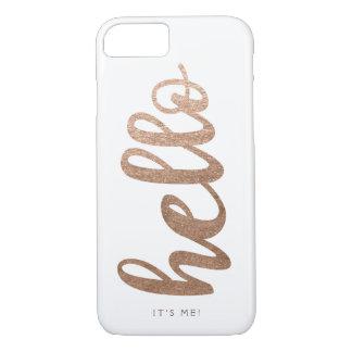 HALLO ist es ich Typografieskript-Bronze iPhone 7 iPhone 8/7 Hülle