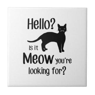 Hallo ist es nach Meow, den Sie suchen Fliese