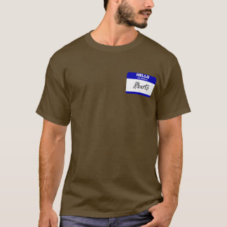 Hallo ist mein Name Alberto (blau) T-Shirt