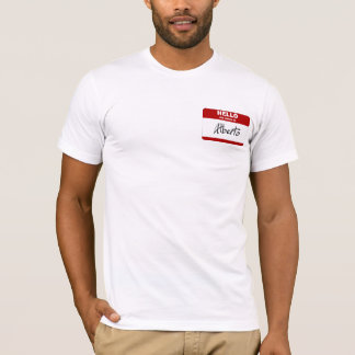 Hallo ist mein Name Alberto (rot) T-Shirt