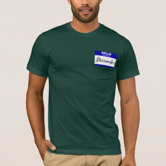 Hallo ist mein Name Alessandro (blau) T-Shirt