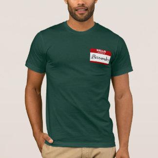 Hallo ist mein Name Alessandro (rot) T-Shirt