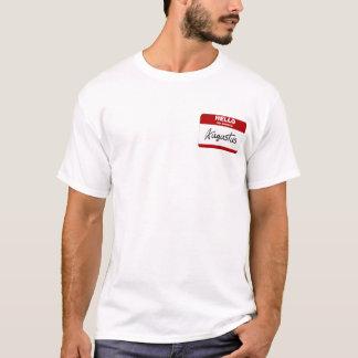 Hallo ist mein Name Augustus (rot) T-Shirt