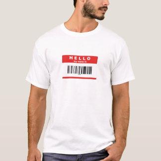 Hallo, ist mein Name Aussenseiter-Barcode T-Shirt
