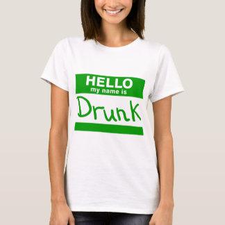 Hallo ist mein Name betrunkener T - Shirt