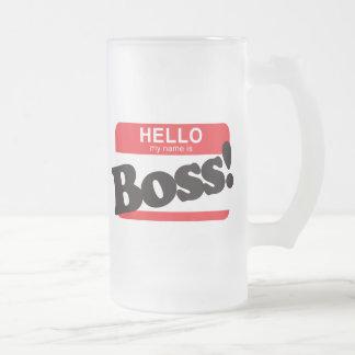 Hallo ist mein Name Chef Tee Tassen